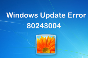 Windows Update Error 80243004