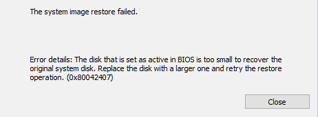 Restore to a Smaller Hard Disk