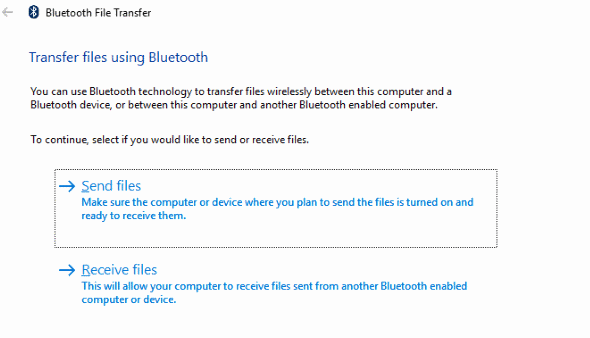 bluetooth photos from phone to laptop