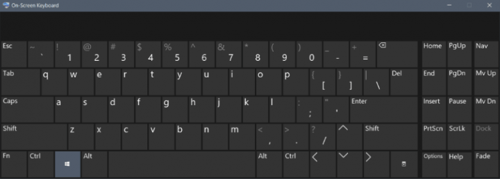 onscreen keyboard