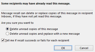 recall message in outlook 2016