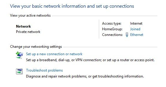 change network from public to private