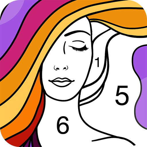 Fun Coloring - Color By Number Paint Happy & Relax