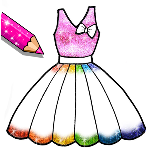 Glitter Dresses Coloring Book - Drawing pages
