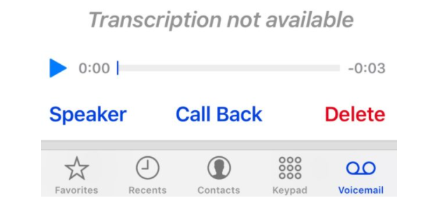 iphone won't play voicemail