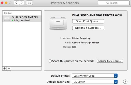 Print Double-Sided On Mac