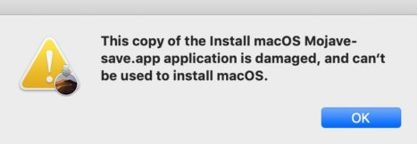 Mojave Application Is Damage