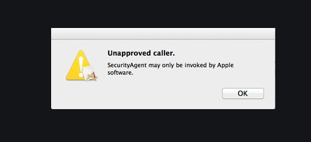 Unapproved Caller MacBook