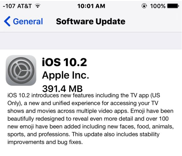 Update 10.2 For iPhone